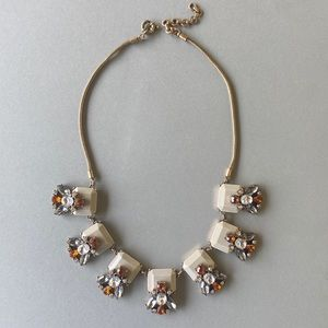 J. Crew Gray Taupe Statement Necklace